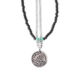 Men's damen + hastings 2-piece Pendant Beaded Necklace