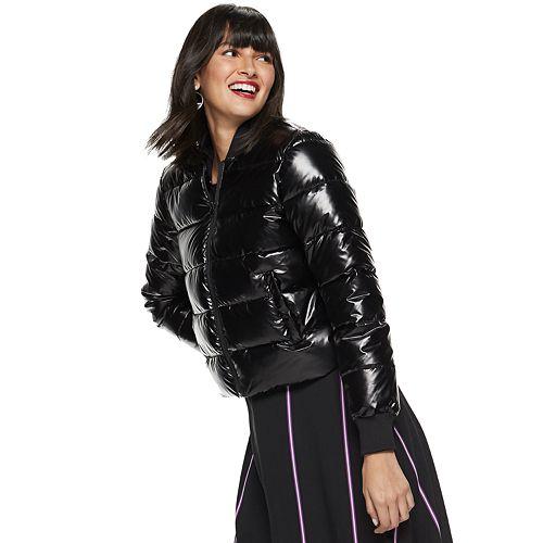 Women's Nine West Cropped Puffer Jacket