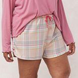 Plus Size Women's LC Lauren Conrad Woven Dolphin Sleep Shorts