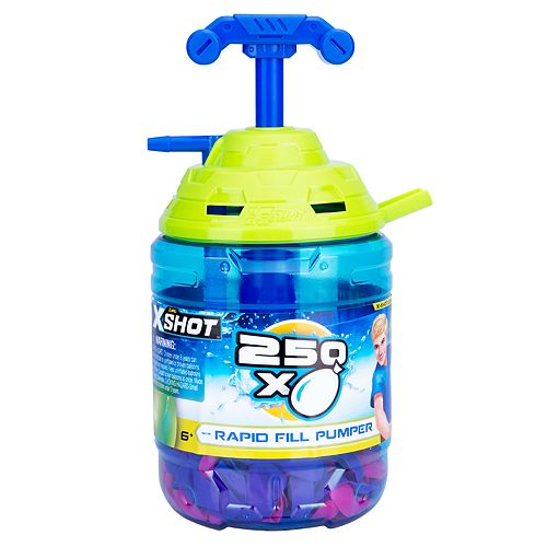 Zuru X-SHOT - Water Warfare - Water Balloons - Large Rapid Balloon Pumper with 250 Balloons