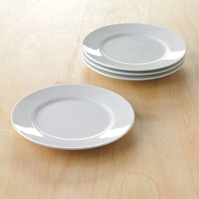 Food Network 4-pc. Butter Cream Canape Plate Set