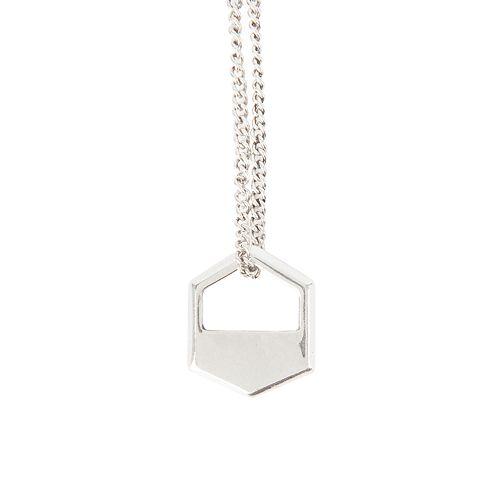 Men's damen + hastings Hexagon Pendant Necklace