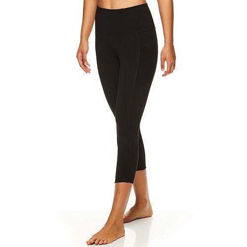 Women's Gaiam Om Sienna Mesh-Pocket High-Waisted Capri Leggings