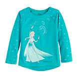 Disney's Frozen Elsa Toddler Girl Glitter Graphic Tee by Jumping Beans®