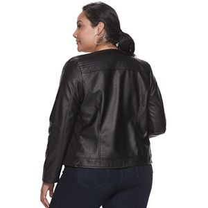 Plus Size EVRI Pleater Moto Jacket