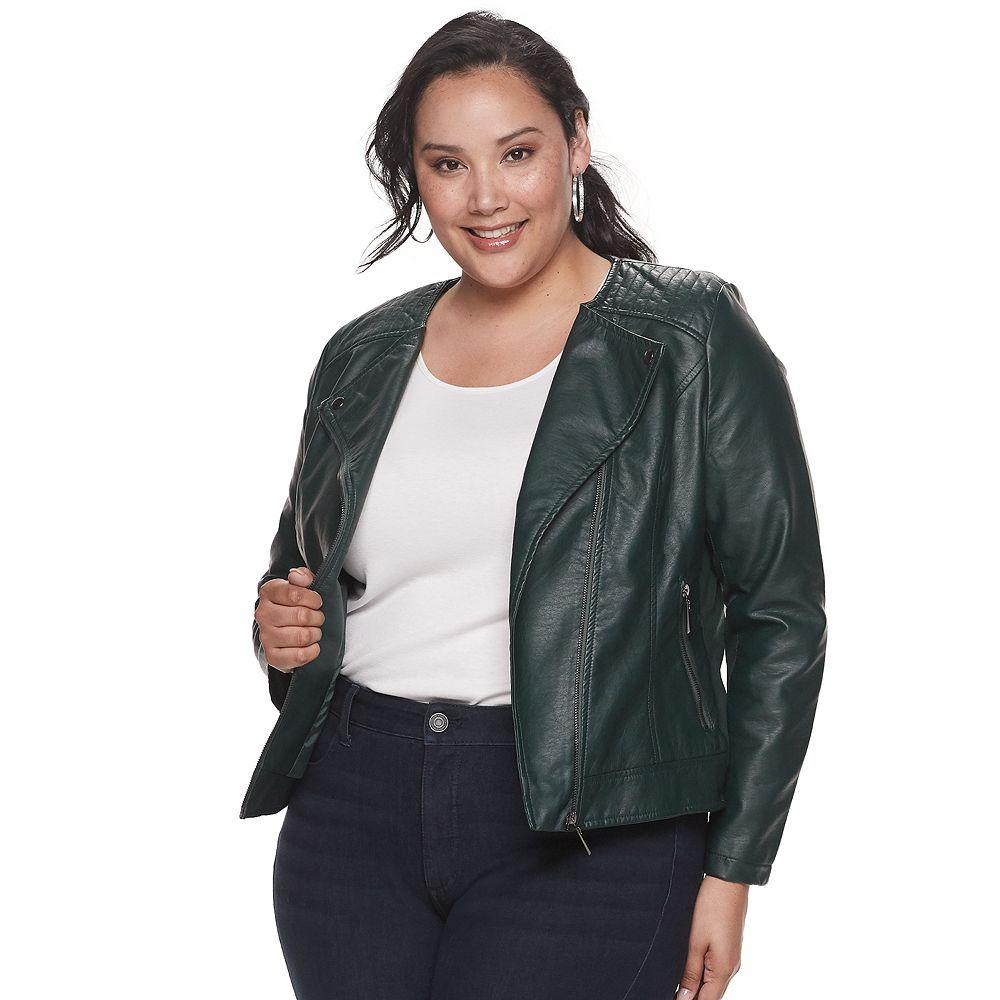 Plus Size EVRI™ Pleater Moto Jacket
