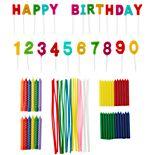 Wilton 83-pc. Rainbow Birthday Party Candles Set