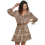 American Rag Belted Surplice Print Dress