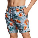 "Men's Speedo Seaside Floral Redondo Volley 18"" Swim Trunks"