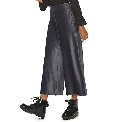 Juniors' Candie's® Wide Leg Velour Pant