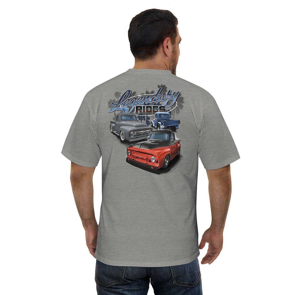 Men's Newport Blue Car Graphic Tee