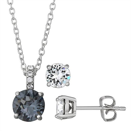 Brilliance Swarovski Crystal Pendant And Earring Set