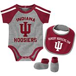 Baby Boy Indiana Hoosiers Tackle 3-Piece Bodysuit Set