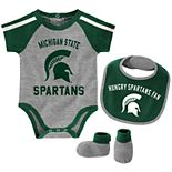 Baby Boy Michigan State Spartans Tackle 3-Piece Bodysuit Set