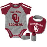 Baby Boy Oklahoma Sooners Tackle 3-Piece Bodysuit Set