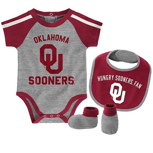 Baby Boy Oklahoma Sooners Tackle 3-Piece Bodysuit Set