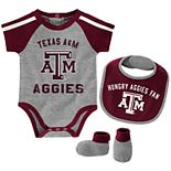 Baby Boy Texas A&M Aggies Tackle 3-Piece Bodysuit Set