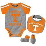 Baby Boy Tennessee Volunteers Tackle 3-Piece Bodysuit Set
