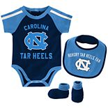 Baby Boy North Carolina Tar Heels Tackle 3-Piece Bodysuit Set