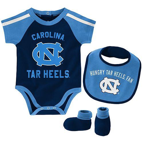 Baby Boy North Carolina Tar Heels Tackle 3-Piece Bodysuit Set