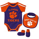 Baby Boy Clemson Tigers Tackle 3-Piece Bodysuit Set