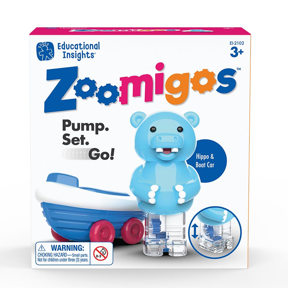 Educational Insights Zoomigos Hippo with Rowboat Zoomer