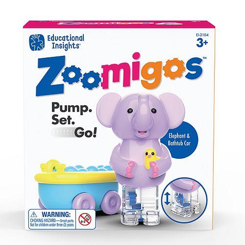 Educational Insights Zoomigos Elephant with Bathtub Zoomer