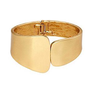 SONOMA Goods for Life® Gold Tone Wavy Metal Geo Cuff Bracelet