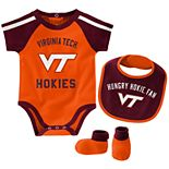 Baby Boy Virginia Tech Hokies Tackle 3-Piece Bodysuit Set