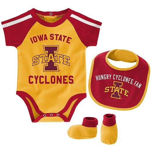 Baby Boy Iowa State Cyclones Tackle 3-Piece Bodysuit Set