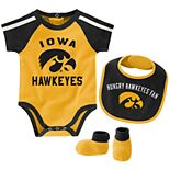 Baby Boy Iowa Hawkeyes Tackle 3-Piece Bodysuit Set