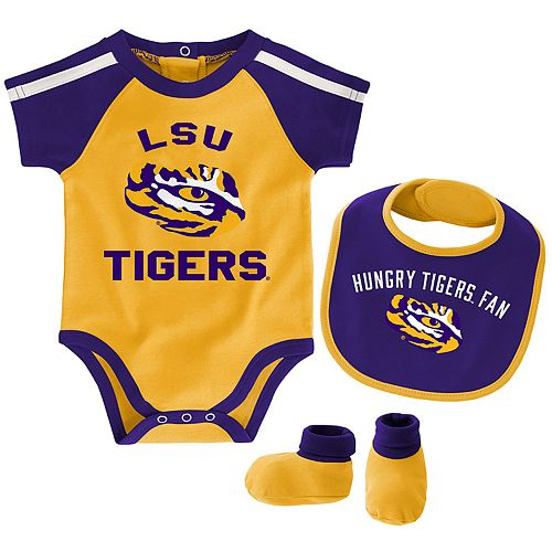 Baby Boy LSU Tigers Tackle 3-Piece Bodysuit Set
