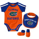 Baby Boy Florida Gators Tackle 3-Piece Bodysuit Set