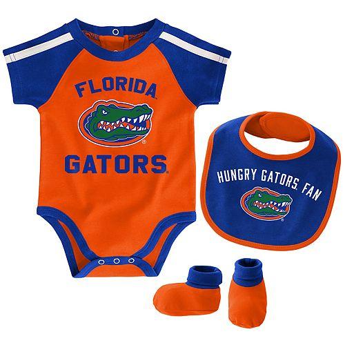 Baby Boy Florida Gators Tackle 3-Piece Bodysuit Set