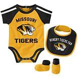 Baby Boy Missouri Tigers Tackle 3-Piece Bodysuit Set