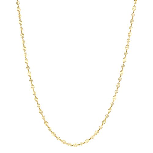 Primavera 24k Gold Over Sterling Silver Oval Chain Link Necklace