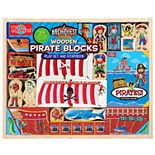 T.S. Shure ArchiQuest Wooden Pirate Blocks Play Set & Storybook