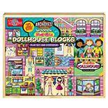 T.S. Shure ArchiQuest 35-Piece Daisy Girl Dollhouse Blocks
