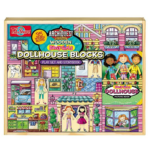 T.S. Shure ArchiQuest 35-Piece Daisy Girl Dollhouse Blocks