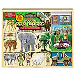 T.S. Shure ArchiQuest 35-Piece Zoo Wooden Blocks