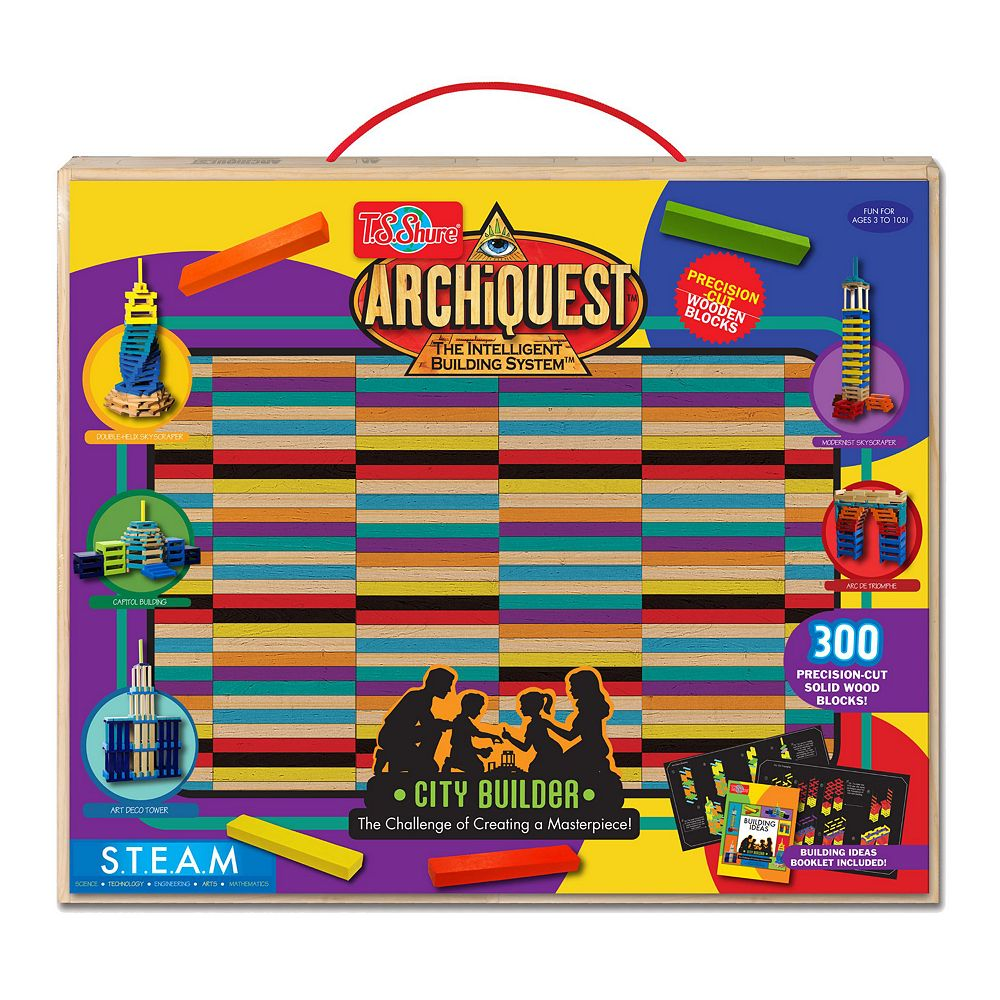 T.S. Shure ArchiQuest Deluxe City Builder Wooden Blocks