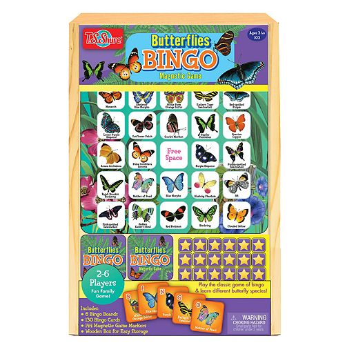 T.S. Shure Butterfly Bingo Wooden Magnetic Game
