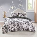 Intelligent Design Renee Reversible Printed Coverlet Set