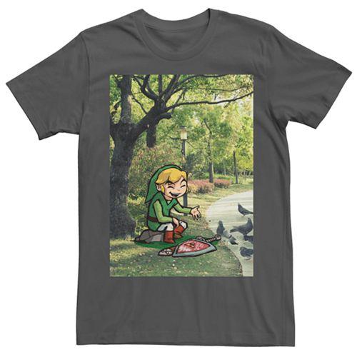 Men's Nintendo Legend Of Zelda Link In A Park Tee