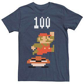 Mens Nintendo Mario Goomba Stomp Points Pixel Tee
