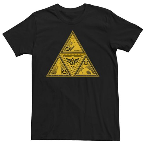 Men's Nintendo Legend Of Zelda Silhouette Triforce Fill Tee