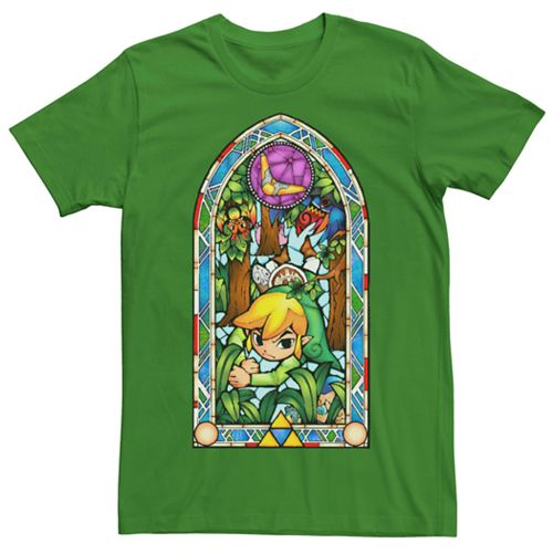 Men's Nintendo Legend Of Zelda Stained Glass Short Sleeve Tee