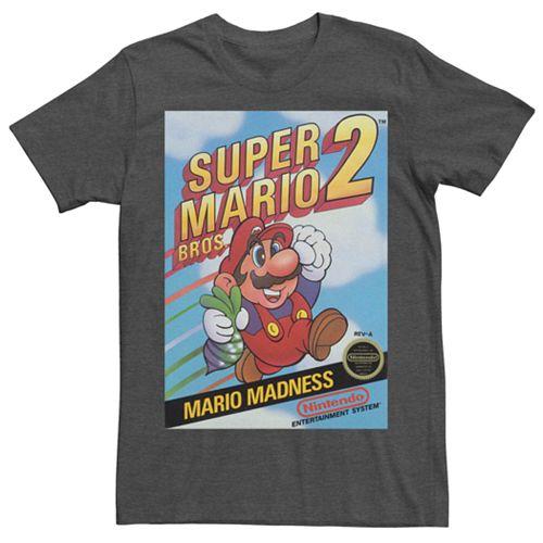 Men's Nintendo Super Mario Bros 2 Retro Box Art Short Sleeve Tee