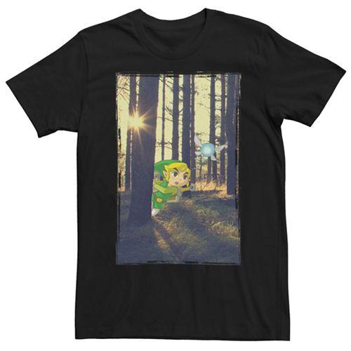 Men's Nintendo Legend Of Zelda Link & Navi Short Sleeve Tee