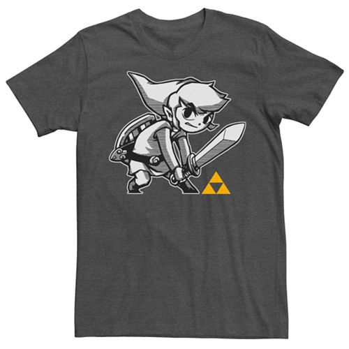 Men's Nintendo Legend Of Zelda Toon Link Tonal Short Sleeve Tee